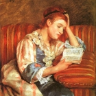 Young Woman Reading, 1876